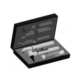 e-scope® F.O. Otoscopio / Oftalmoscopio XL/HL 2,5 V, blanco en estuche